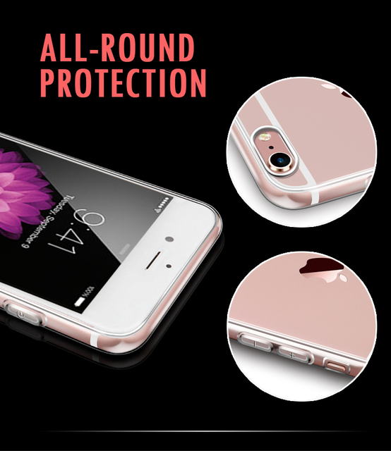 For iPhone 6 Series Crystal Clear Silicon Back Cover