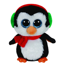 "Pyoopeo Ty Beanie Boos 6"" 15cm North the Penguin Plush Beanie Babies Stuffed Animal Collectible Soft Big Eyes Doll Toy"