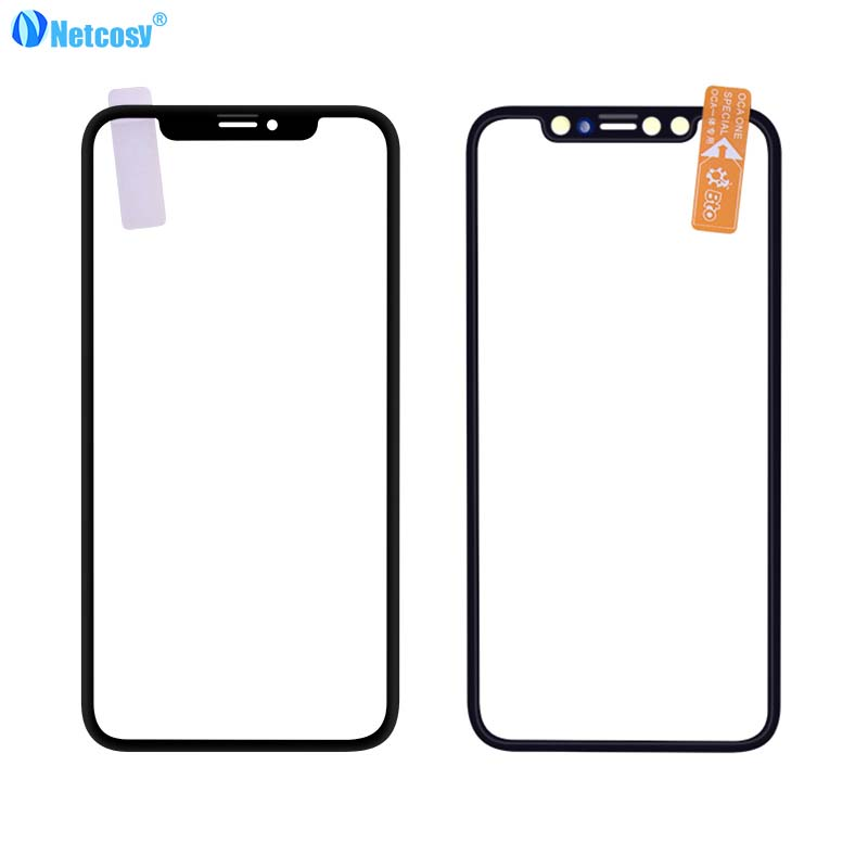Netcosy Front Screen Outer <font><b>Glass</b></font> Len with OCA Assembly for <font><b>iPhone</b></font> <font><b>X</b></font> XR XS max Touch Panel Replacement <font><b>Repair</b></font> Parts image