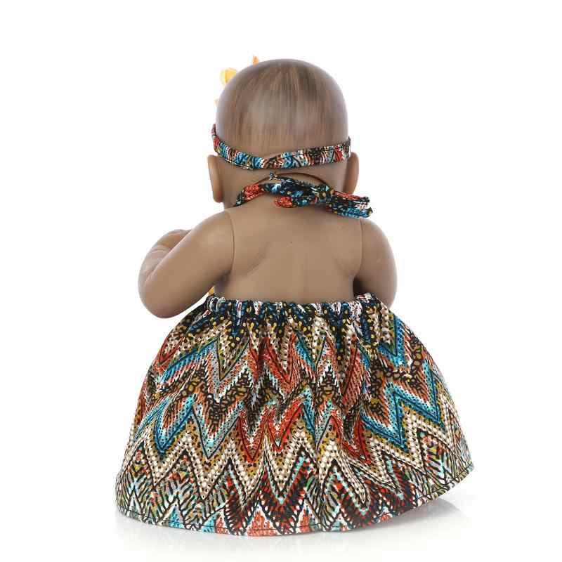 2018 мини 10 дюймов силиконовая кукла реборн 27 см черные Близнецы виниловые детские игрушки куклы для продажи игрушки для девочек для детей подарки на день рождения