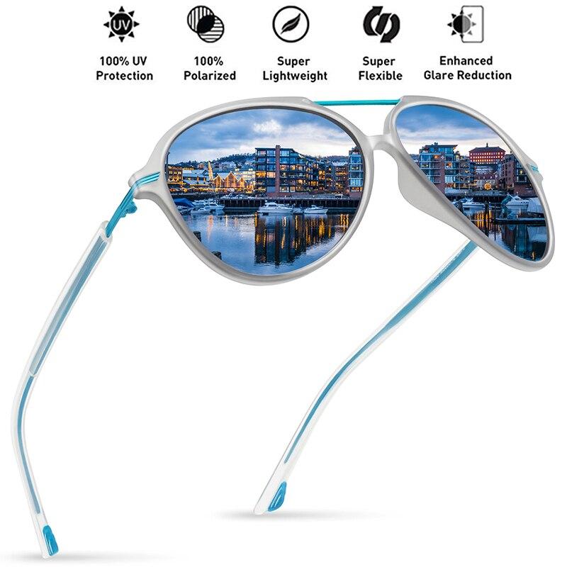 7ba0713bdc JULI polarizado piloto gafas de sol de moda hombres mujeres Tr90 Metal  irrompible marco para la pesca redonda conducción de gran tamaño gafas
