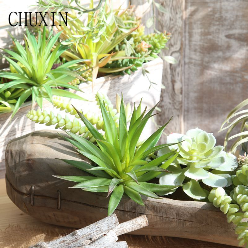 Us 2 24 30 Off Green Artificial Succulents Fake Plant Decorative Flower Wedding Home Decoration Garden Office Table Decor Accessories In