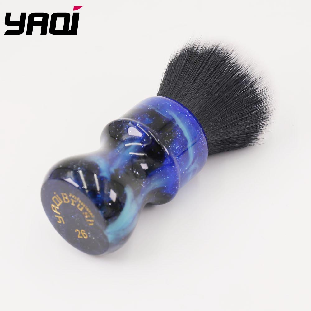 Image 2 - 26MM Yaqi Mysterious Space Color Handle Tuxedo Knot Men Shaving Brush-in Shaving Brush from Beauty & Health