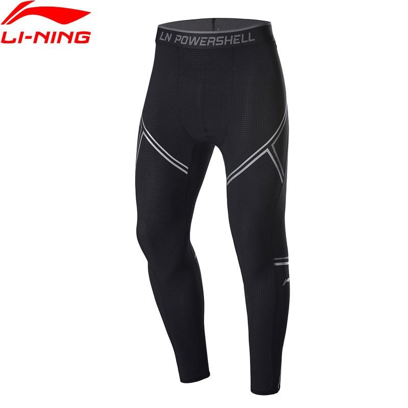 Li-Ning Men Training Base Layer Pants Stretchy Breathable 77.4%Nylon 22.6%Spandex Li Ning LiNing Sports Tights AULP033 MKY502