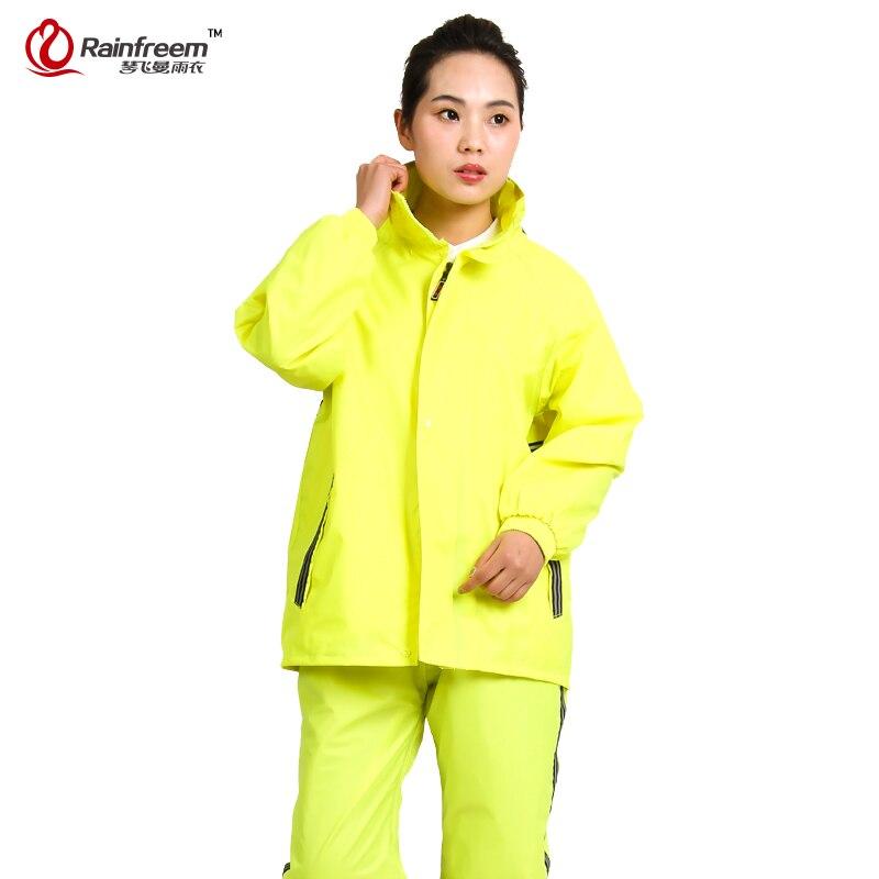 Rainfreem impermeable raincoat women men rain suit poncho for Best rain suit for fishing