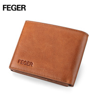 2016 Brand Retro Brown Purse Men Wallet Genuine Leather Vintage Men Wallet Organizer Wallets Extra Cards