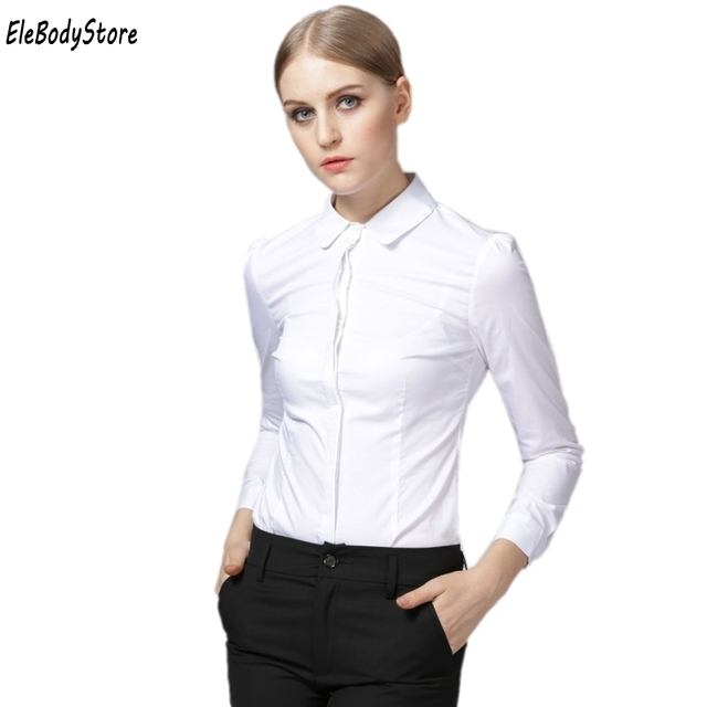 0b12a510b85 2019 Body Blouse Women Plus Size Shirt Casual Bodysuit Blouses Blusa Office Shirts  Tops Blusas Long Sleeve Formal White Clothes