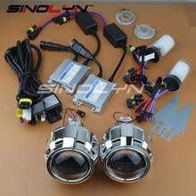 SINOLYN 2.5 pulgadas HID Bi xenon Lente Del Proyector LHD/RHD completo Car Styling Retrofit Kit de Lentes H4 H7 4300 K 6000 K 8000 K