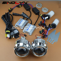 SINOLYN Car Styling 2.5 inches HID Bi xenon Headlight Projector Lens LHD/ RHD Full Kit Headlamp Lenses H4 H7 4300K 5000K 6000K