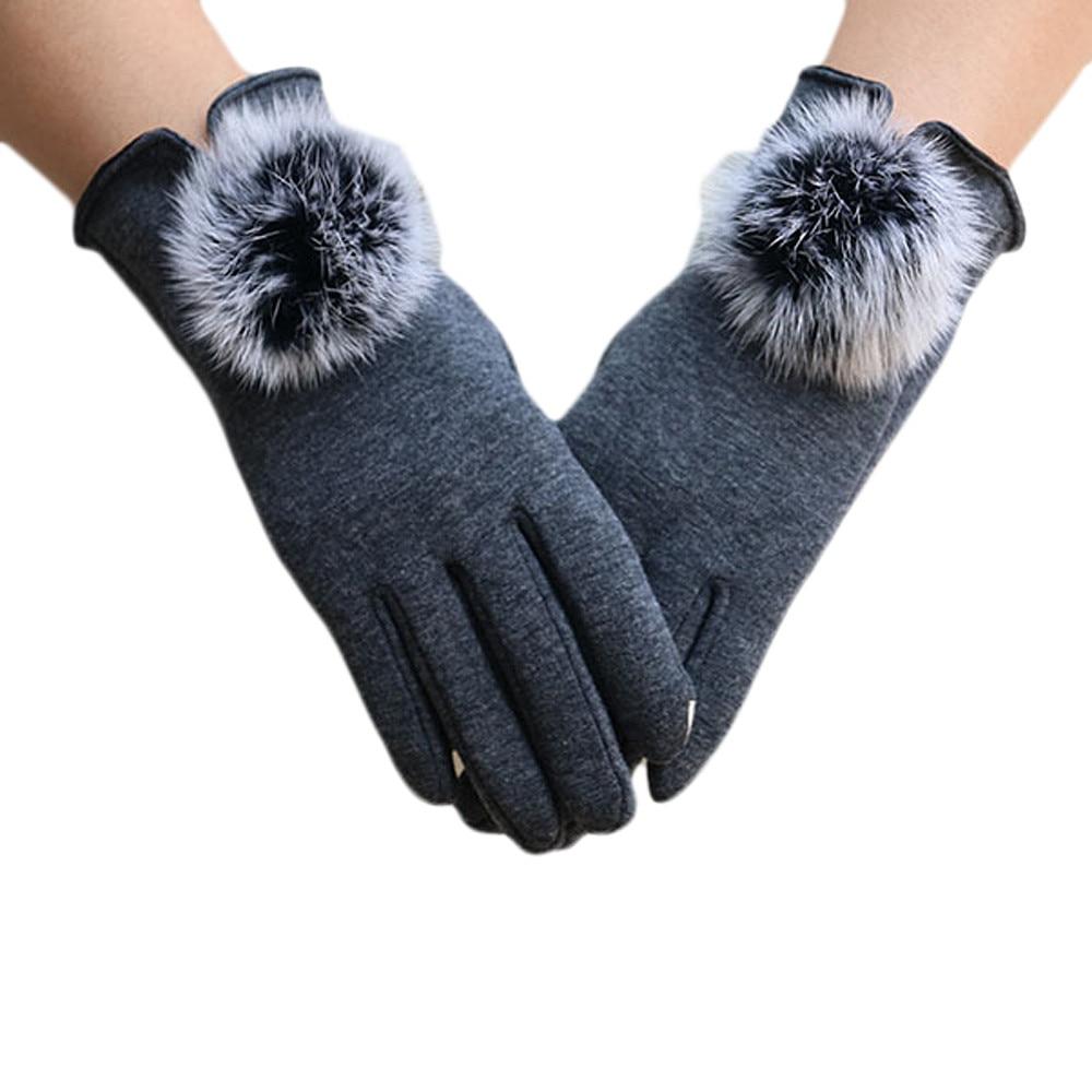 2017 # FASHION Women Villus Winter Super Warm Gloves