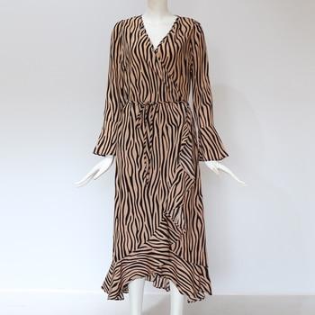 Maxi Dress Casual Long Sleeve V Neck 4