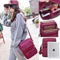 free shipping woman canvas fashion travel passport double-layer leisure bag woman handbag 4 color