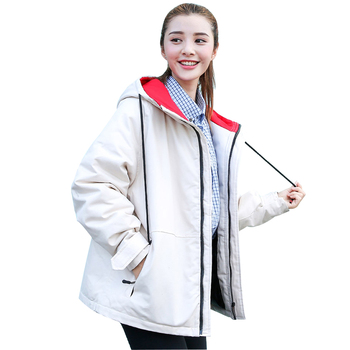 2019 New Winter Jacket Women Warm Hooded Coat Jacket Female Parka Thickening Loose Coat Fashion cotton-padded clothes Outwear