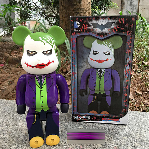 The Joker Bearbrick Action Figure 400% Bearbrick Cos The Joker Doll PVC figure Toy Brinquedos Anime 28CM batman bearbrick action figure 400