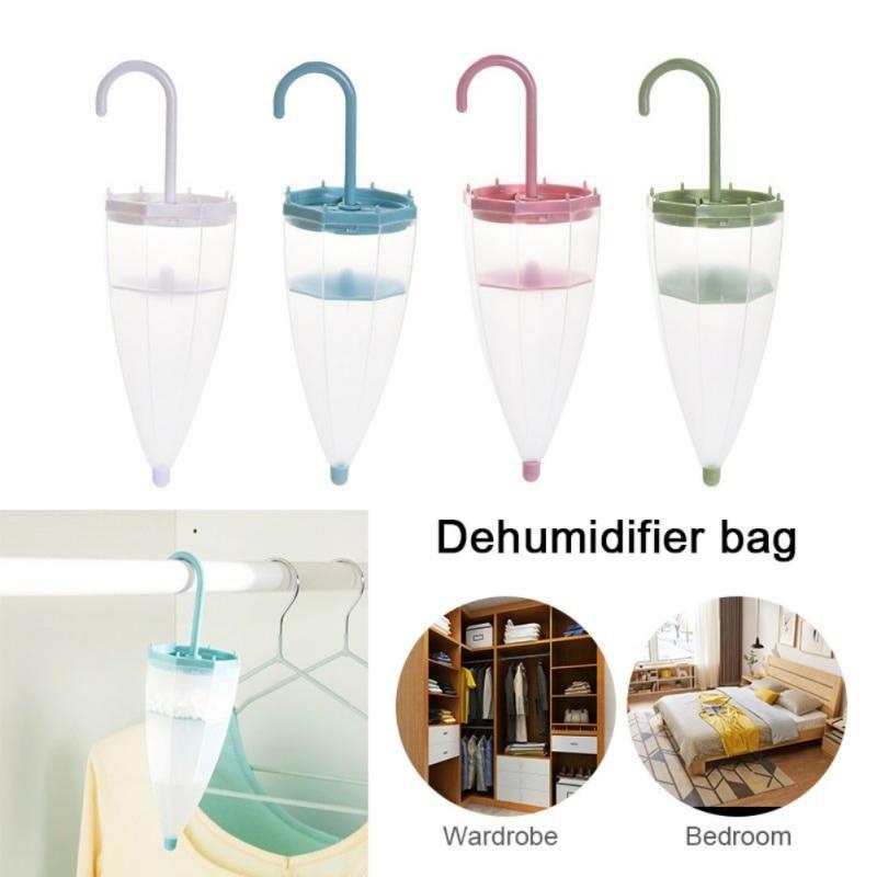 Umbrella Shape Hanging Dehumidifier Bags Reusable Moisture Absorber Save Space Dehumidifier Bags Home Wardrobe Supplies