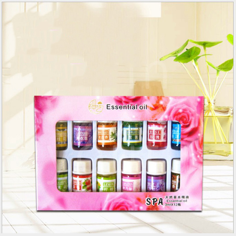12pcs/pack Makeup 3ml Fragrance Essential Oils Pack For Aromatherapy Spa Bath Massage Essential Oil Cosmetics