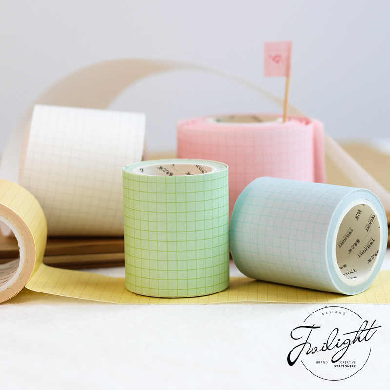 50mm x 5m Farbe Grid Washi Band Diy Scrapbooking Aufkleber Label Masking Tape Schule Büro Liefern