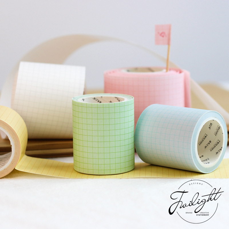 50mm X 5m Color Grid Washi Tape Diy Scrapbooking Sticker Label Masking Tape School Office Supply