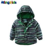 Mingkids Outdoor Thermal Green Jacket Waterproof Windproof Coat For Boys Fleece Spring Autumn European Size German