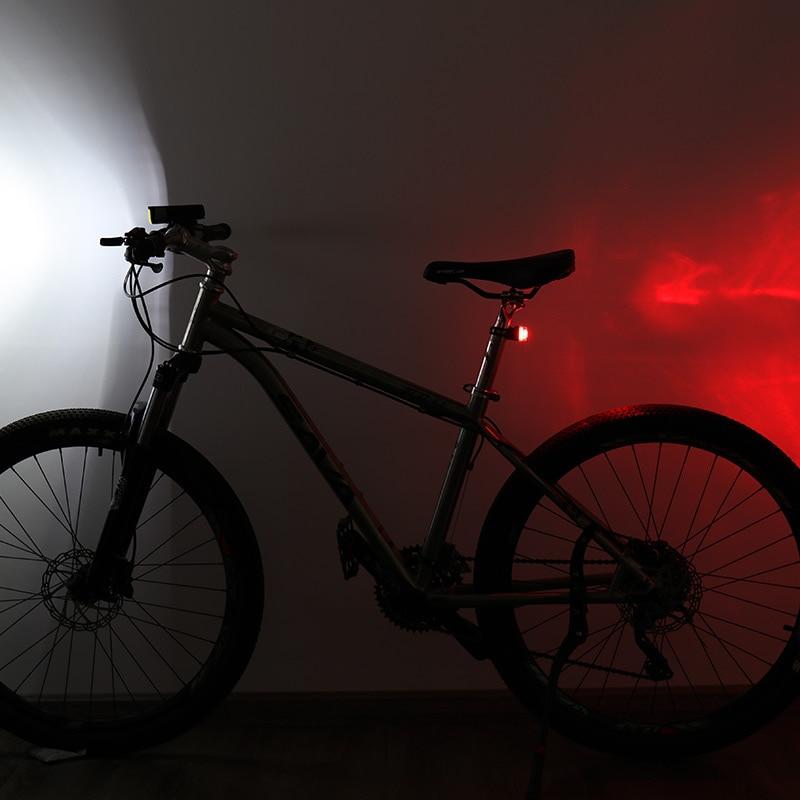 WHEEL UP Lampa rowerowa Light Bike Lampa MTB Road Cycling Usb - Jazda rowerem - Zdjęcie 6