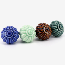 1PCS 34mm Ceramic Cartoon Pumpkin Knobs Dresser Drawer Pull Handle Kitchen Cabinet Door Classic Vintage