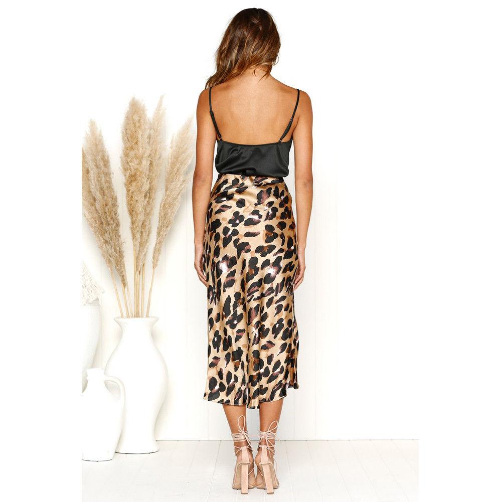 c5b6f69ea5 Women High Waist Long Pencil Skirt Slim Bodycon Midi Skirt Leopard Print  Skirt Summer Fashion Women Clothes-in Skirts from Women s Clothing on ...