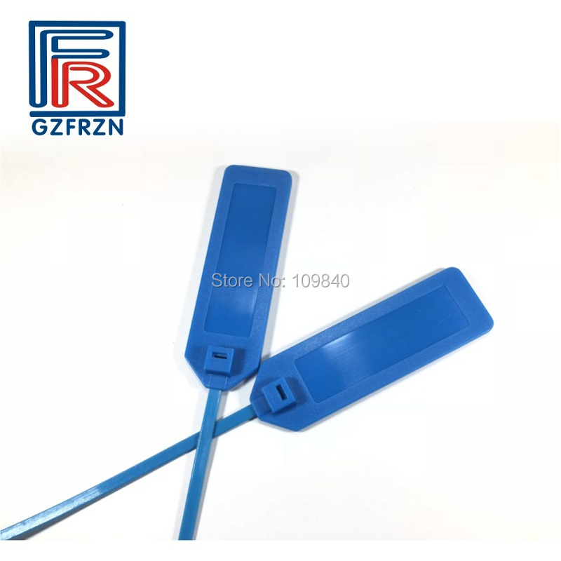 860-960mhz RFID Ribbon Seal Tag Zip Tie Waterproof Cable Tracking Tags/card/label 100pcs/lot