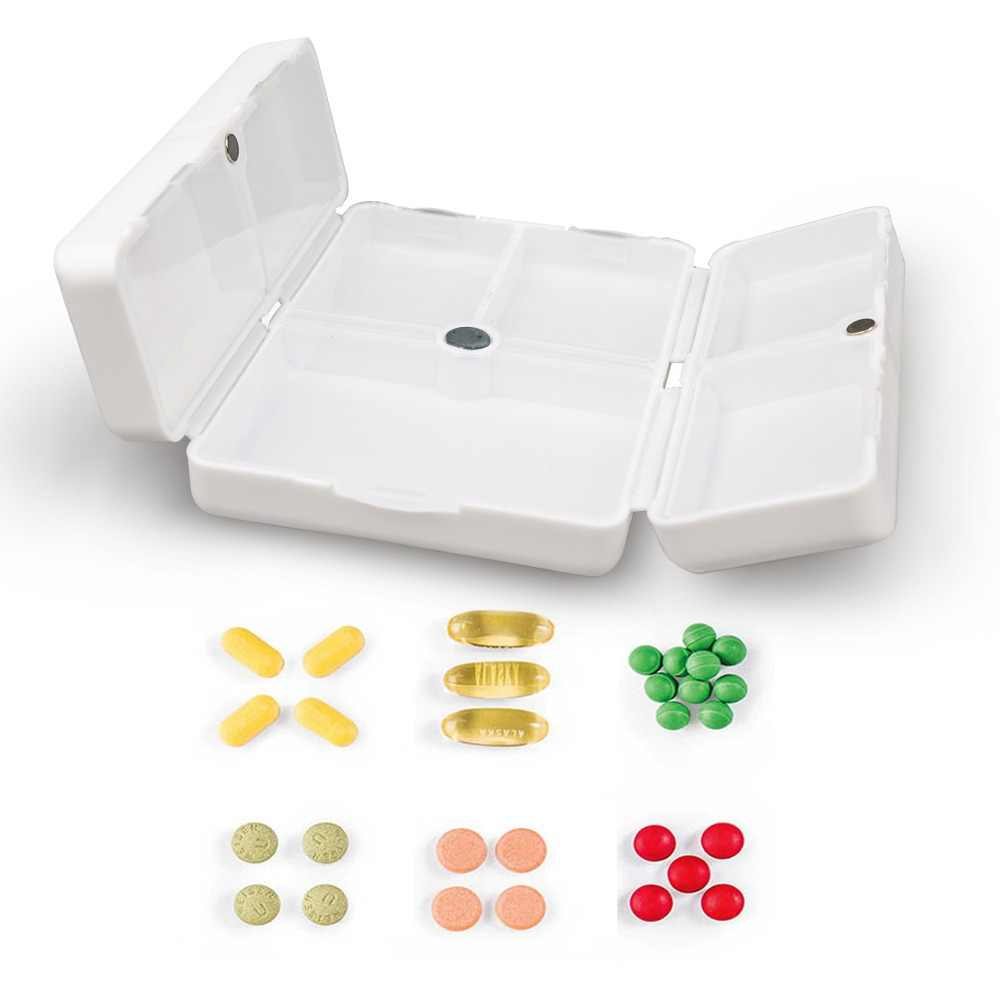 Athphy ピルボックススプリッタポータブルミニ医学リマインダー非毒性旅行ピル主催食品グレード 7 グリッドカッター丸薬ケース
