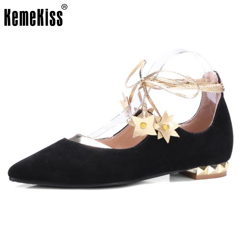 Size 30-43 New Arrived Ladies Flat Shoes Women Ankle Cross Strap Pointed Flats Leisure Female Fahsion Metal Soft Shoes women flat sandals fashion ladies pointed toe flats shoes womens high quality ankle strap shoes leisure shoes size 34 43 pa00290