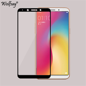 Wolfsay Full Cover Tempered Glass Oppo F5 Glass 9H Hardness Screen Protector For Oppo F5 Youth Glass For Oppo A73 A73T CPH1723(China)
