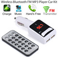 Car Wireless MP3 Audio Player Bluetooth FM Transmitter With Control Wireless FM Modulator Car Kit HandsFree LCD Screen SE 23