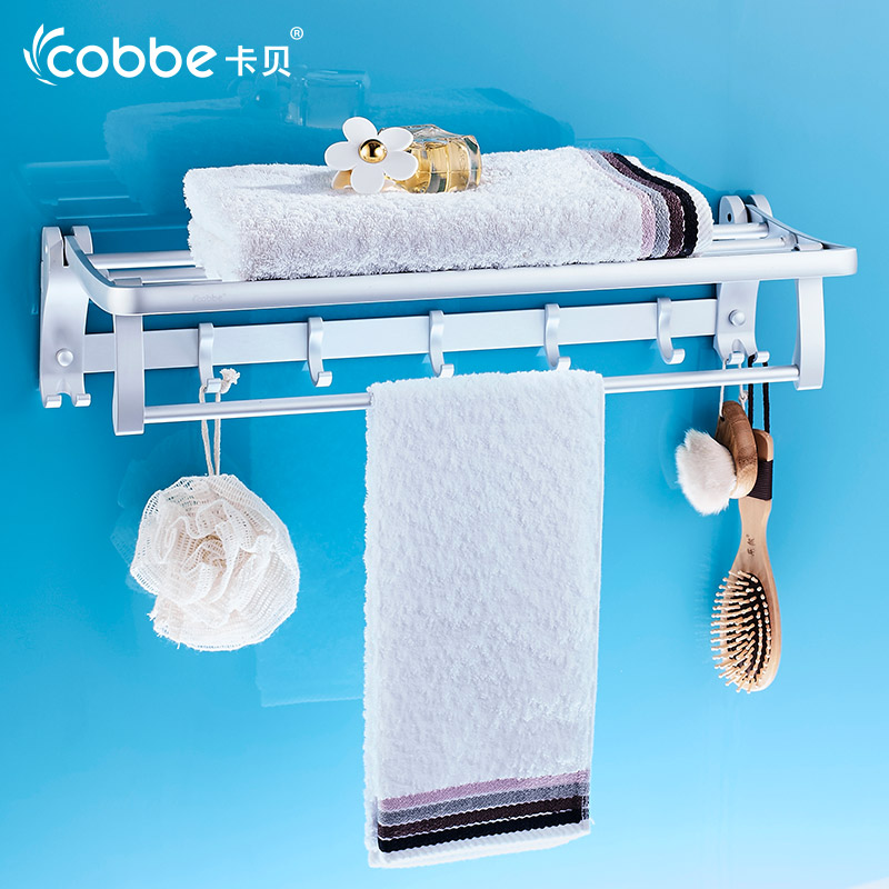 60cm space aluminum towel rack with hooks organizers of bathroom accessories decorative wall - Towel racks for small spaces concept ...