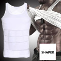 Homem Boobs Ginecomastia Shaper Compressão Vest Slimming Controle Tummy Trimmer Barriga Shapewear Tops