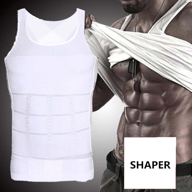 ce67102163 Online Shop Man Gynecomastia Shaper Boobs Compression Vest Slimming Tummy  Trimmer Belly Control Shapewear Tops XXL