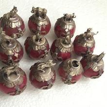 Металлические изделия коллекционные Украшенные красный нефрит тибетский серебряный некоторые Jixiang beast выбор статуя(выбрать форму животного