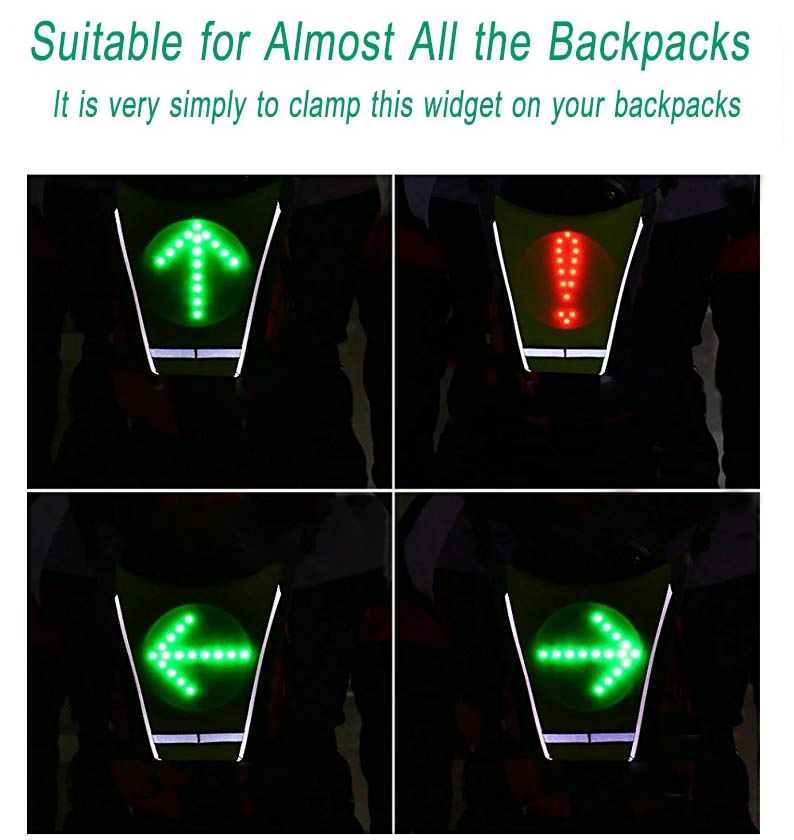 E-MerCurius Bicycle Bag LED Wireless signal Direction Indicator 1L WATER BUBBLE