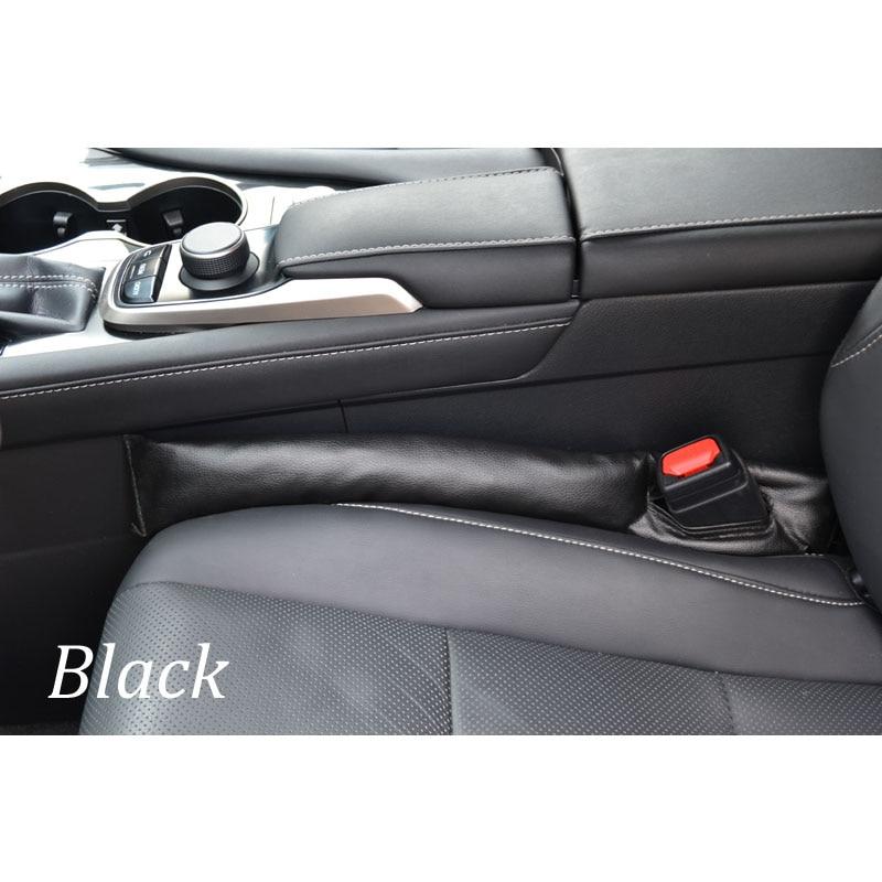 Для Toyota RAV4 2013 1 шт. автомобильное кресло зазор стопор герметичный стоп-коврик прокладка наполнителя коврик для подушки - Название цвета: black