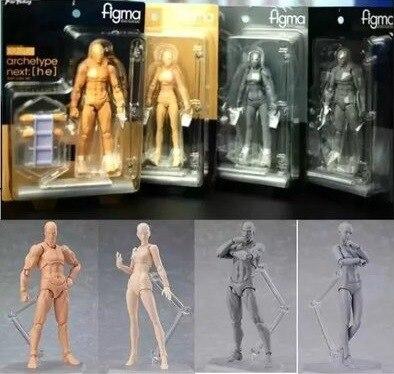 Anime Figuras de Ação Boneca de Arquétipo Ele Ela Ferrite Figma Movable Corpo Corpo Chan Kun Ação Pvc Brinquedos Figura Modelo Para collectible
