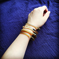 Nightclub Fashion accessories jewelry Wholesale Top Quality Natural horn bangles& Bracelet  4MM Multiple mix build better