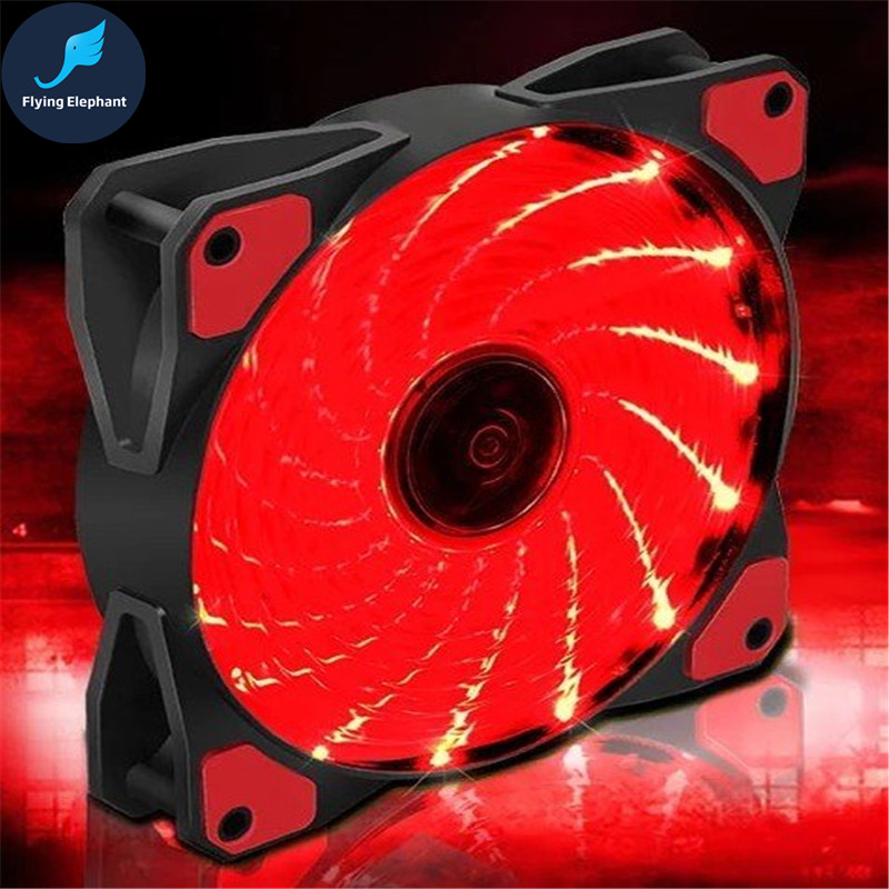 Flying Elephant 120 Cold Row Chassis Bearing Fan 15 groups LED lights 22dB very quiet strong wind 12cm fan