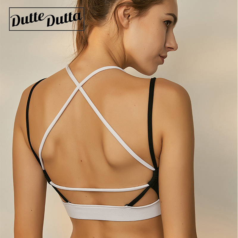 Icyzone Women Activewear Yoga Clothes Strappy Crisscross: Dutte Dutta Brassiere Sport Woman Fitness Sexy Backless