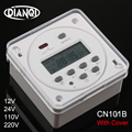 CN101B AC 12V 24V 110V 220 110v デジタル Lcd 電源タイマー NO NC プログラマブルタイムスイッチリレー保護カバー毎週 7 日