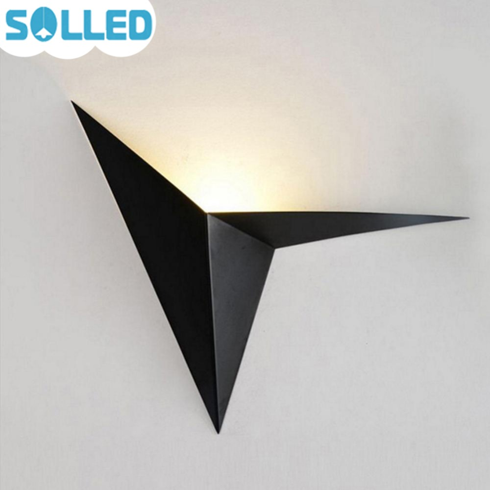 SOLLED creativo moderno LED lámpara de pared luz triángulo Simple dormitorio Sanctum pasillo escalera iluminación jk35