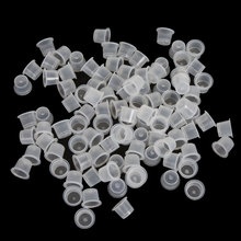 100Pcs 18mm Big Size Clear White Tattoo Ink Cups Caps Supply Tattoo Makeup Eyebrow Makeup Pigment Container Caps Accessories