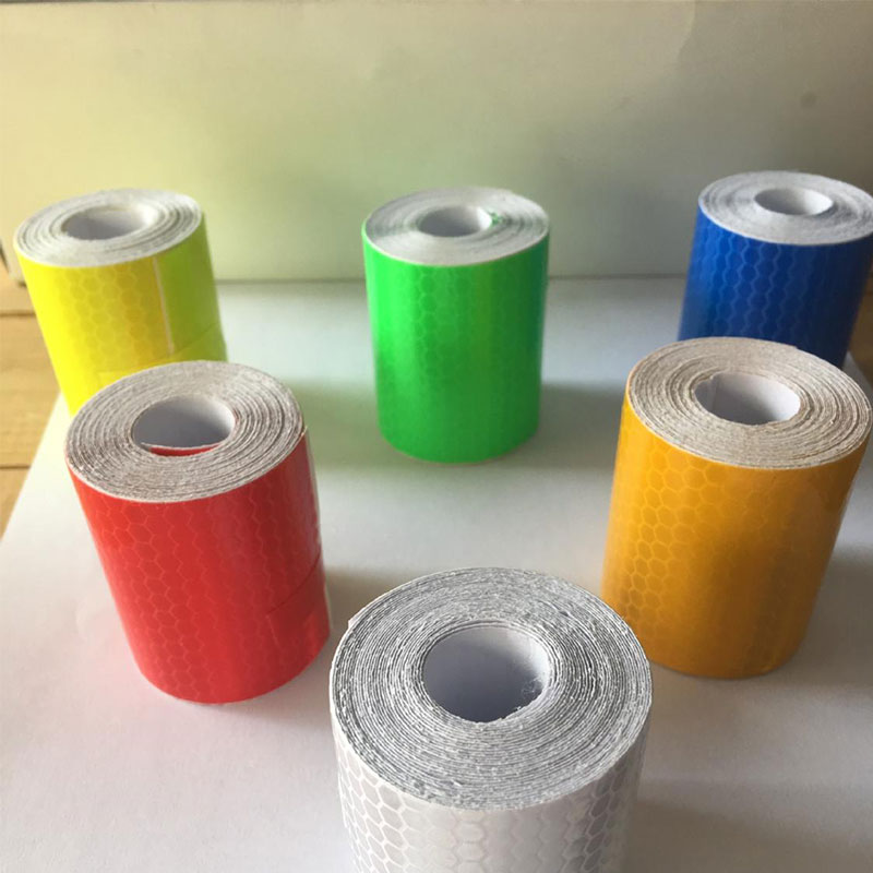5cmx3m Cinta Reflectante Reflective Fabric Reflector Tape Reflex Tape Adhesiva Auto Car Film Crystal Honeycomb 30 Mm