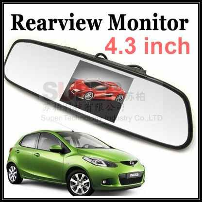 3.5 and 4.3 TFT LCD option cctv LCD monitor display for parking view ok for car rearview mirror parking camera monitor