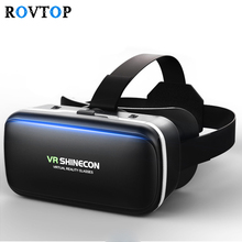 Rovtop 3D Glasses VR Box Virtual Reality Cardboard Headset Helmet For Smartphone Samsung Eyeglasses VR Devices for Games Z2