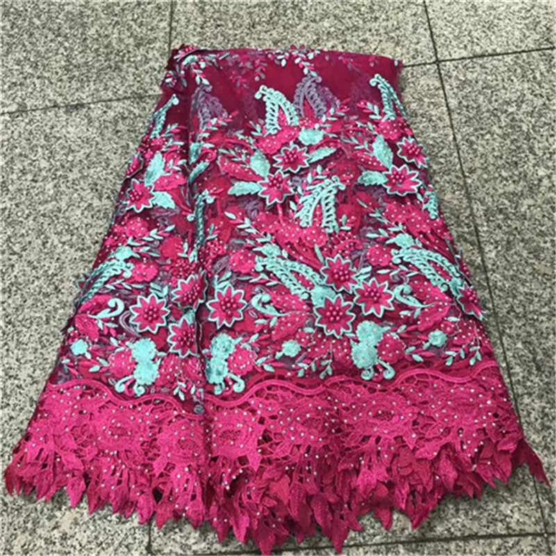 New Design African French Lace Fabric 2018 High Quality Nigerian French Net Lace Handmade With Nice