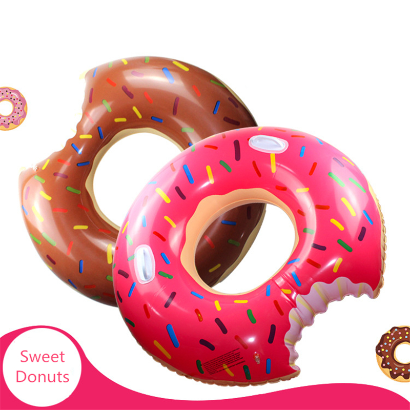 Summer New 60-120cm Inflatable Donut Shape Swimming Rings Thickened Oversized High Quality Explosion Women Swimming Rings