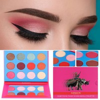 12 Color Eyeshadow Palette Powder Professional Make Up Pallete Cosmetics Smoky Warm Makeup Eye Shadow